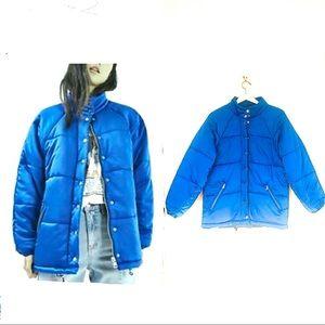 Topshop Cobalt Blue Quilted Puffer Ski Jacket